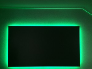 Backlit Projector Screen in green