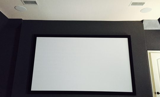 Media Room Screen and front speakers