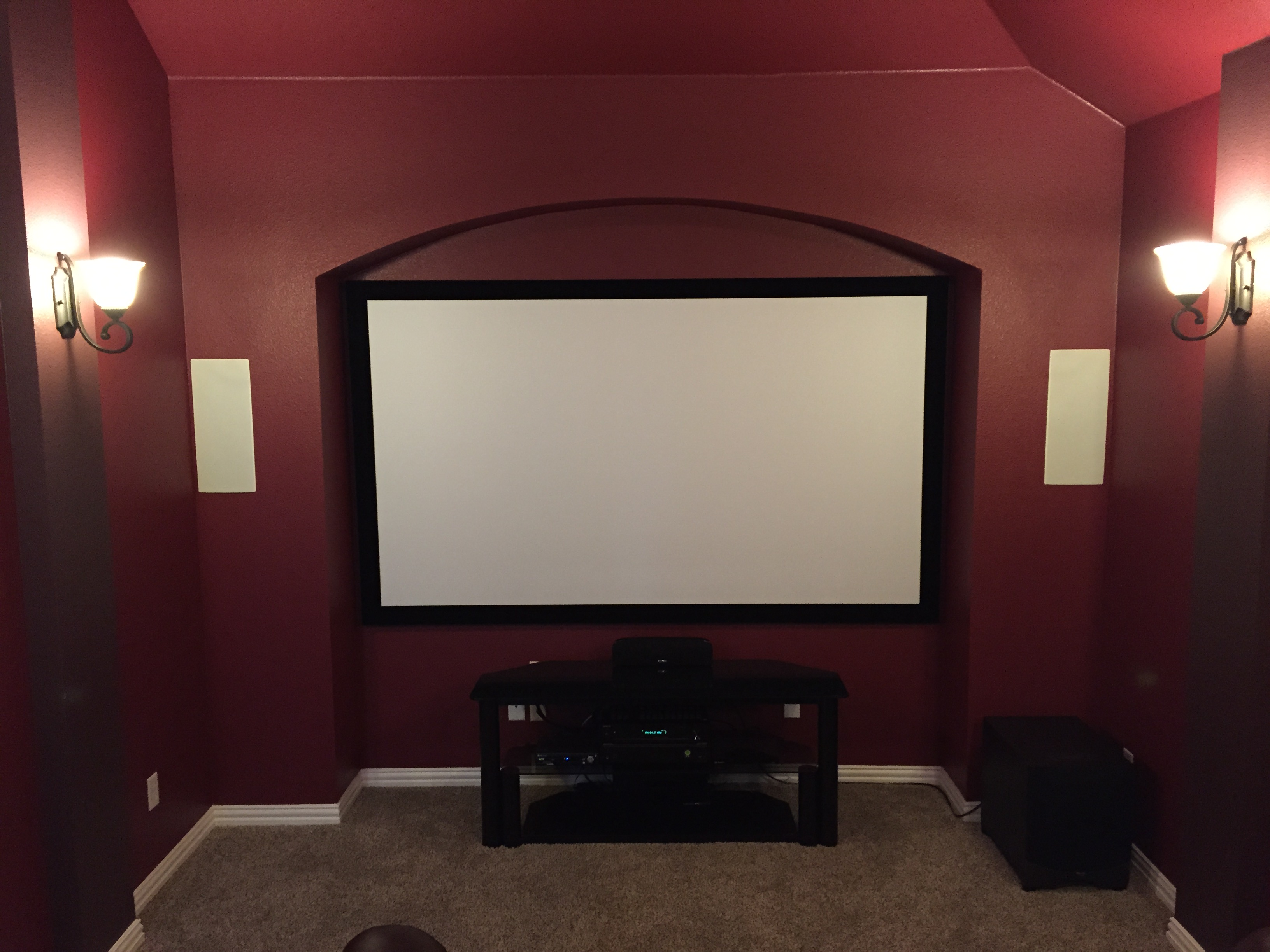 Home Entertainment Frisco Theater Center Stage Av Wiring A Projection Tv Media Room