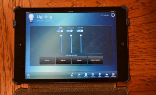Control lighting from i-Pad